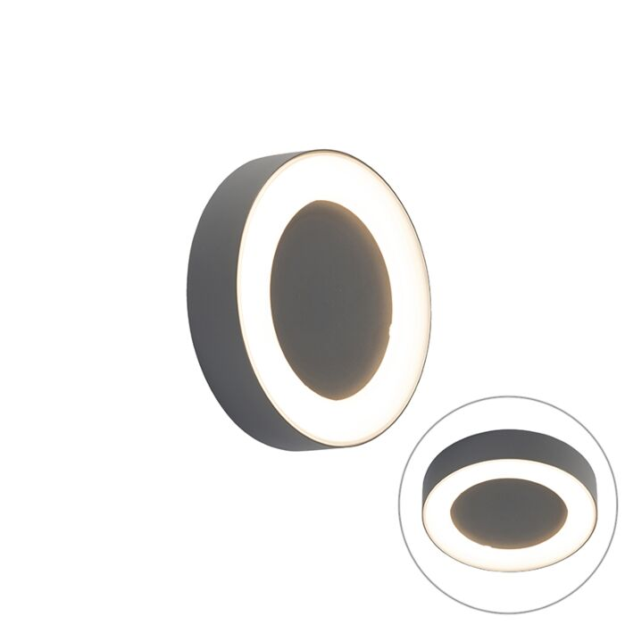 Wall-and-ceiling-light-gray-round-IP54---Ariel