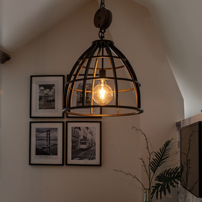 Industrial-round-hanging-lamp-black-steel-48-cm---Arthur