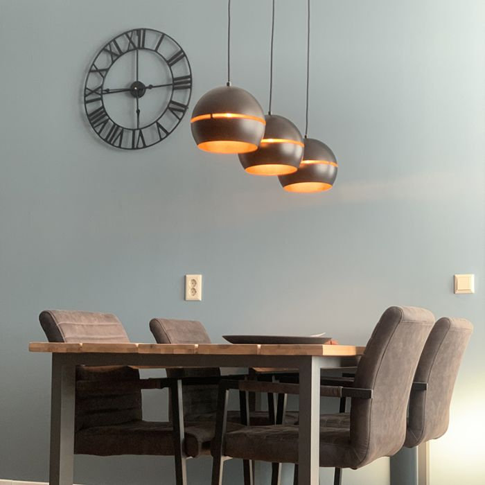 Design-hanging-lamp-black-with-golden-interior-3-lights---Buell