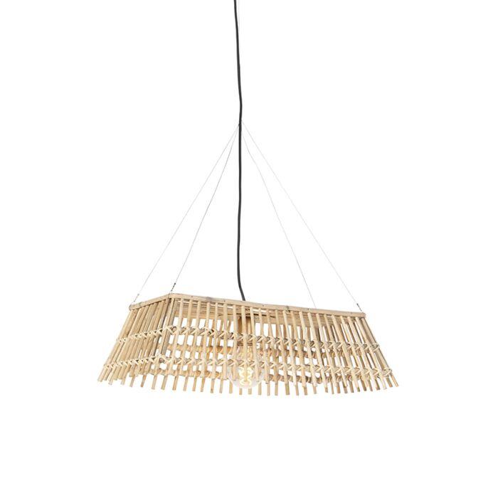 National-hanging-lamp-bamboo---Cane-Recta