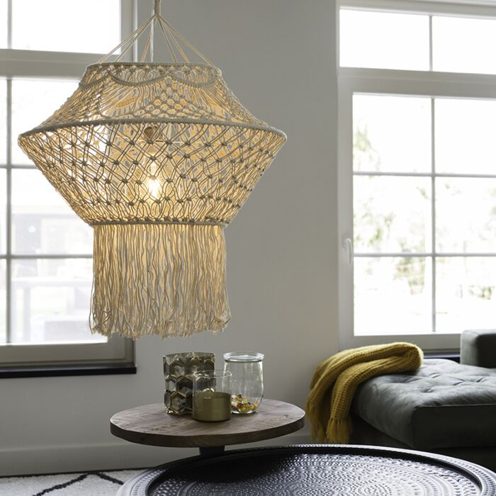 Country-hanging-lamp-macramé-90-cm---String