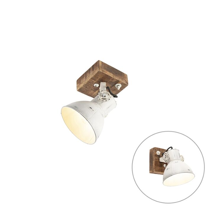Industrial-spot-white-with-mango-wood-18-cm---Mangoes