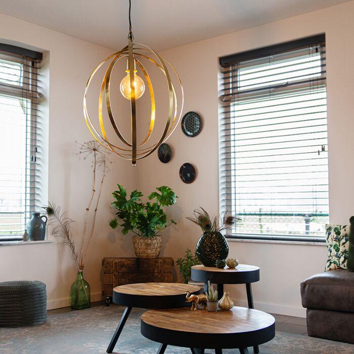 Vintage-hanging-lamp-brass---Rings