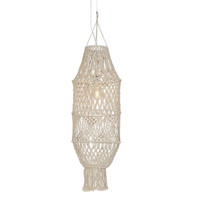Retro-hanging-lamp-with-macramé-shade-130-cm---String