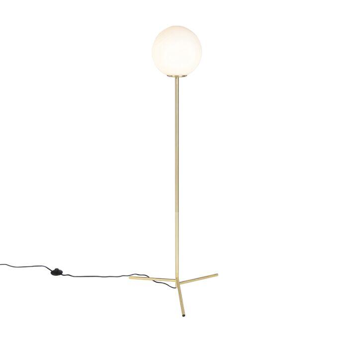Art-Deco-Floor-Lamp-Brass-with-Opal-Shade---Pallon