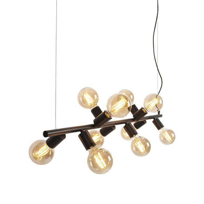 Scandinavian-Pendant-Lamp-10-Black---Facil-Tube