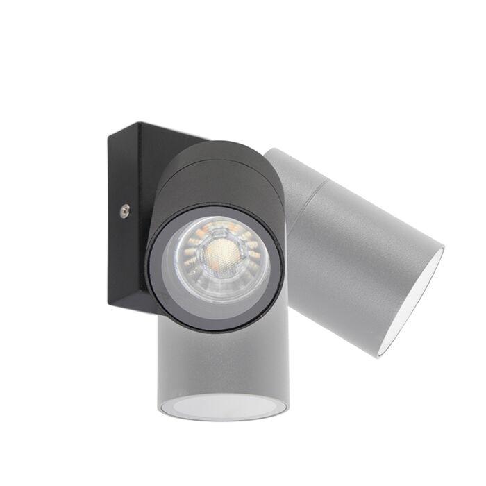 Outdoor-wall-lamp-black-adjustable-IP44---Solo