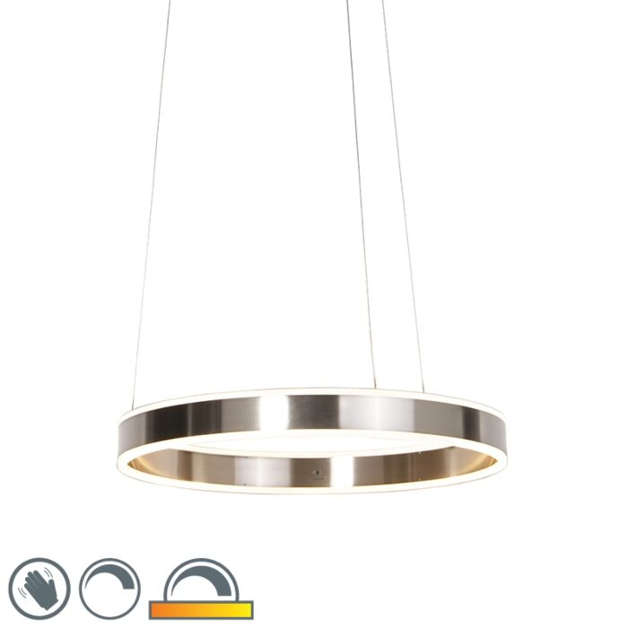 Modern-hanging-lamp-steel-incl.-LED-60-cm-dim-to-warm---Ollie