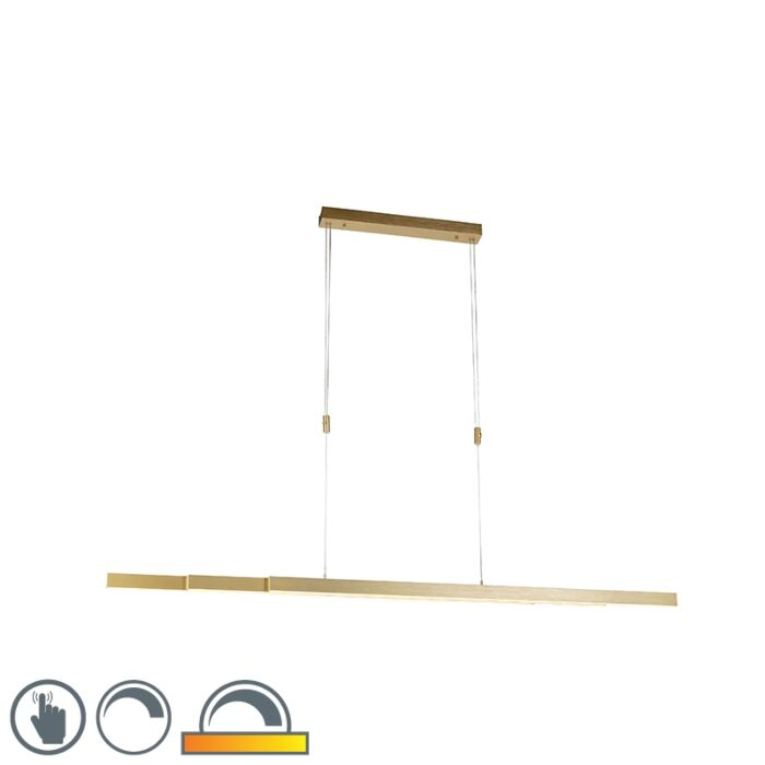 Adjustable-brass-hanging-lamp-dim-to-warm-incl.-LED---Juliet