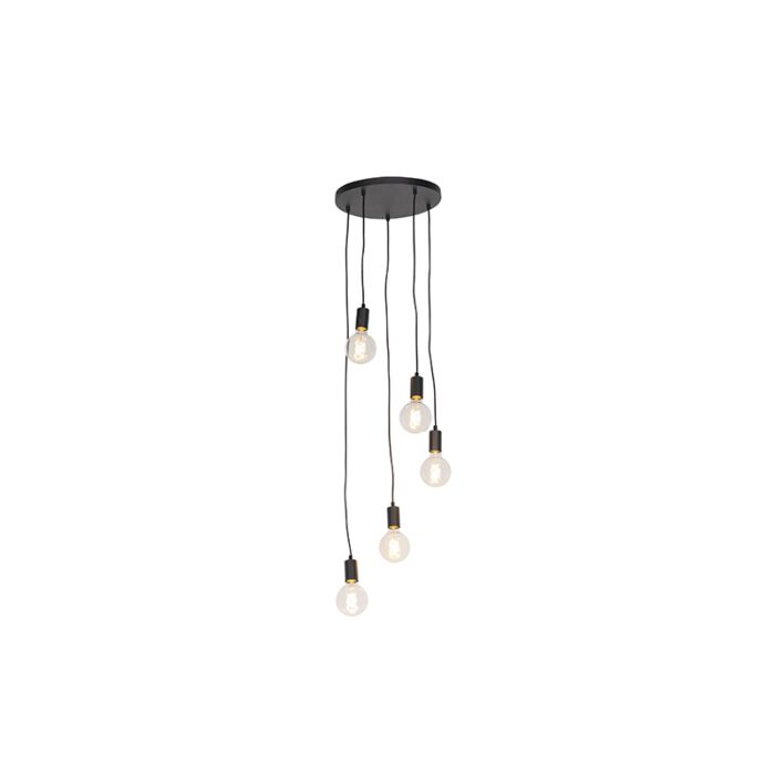 Modern-Pendant-Lamp-35cm-Black---Facil-5