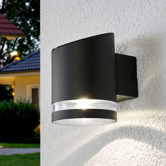 Outdoor-wall-lamp-anthracite-incl.-LED-on-solar---Melinda
