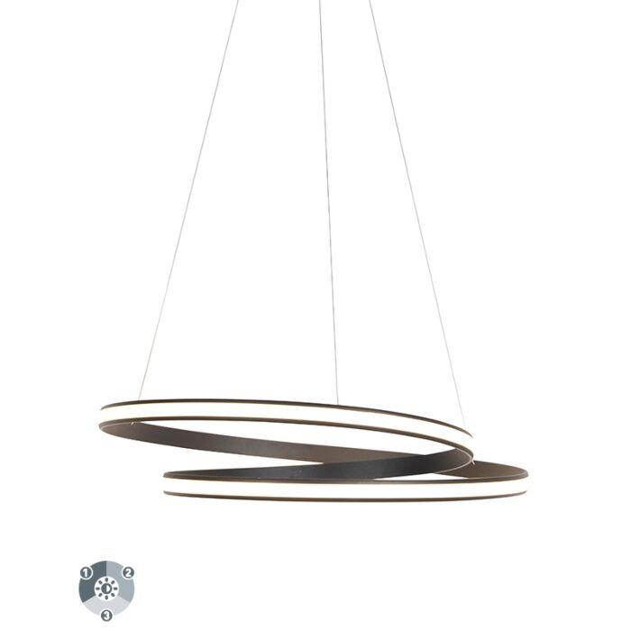 Modern-hanging-lamp-black-74cm-incl.-LED-3-steps-dimmable---Rowan