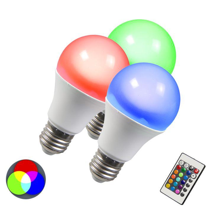 Set-of-3-E27-LED-RGB-10W-Warm-White