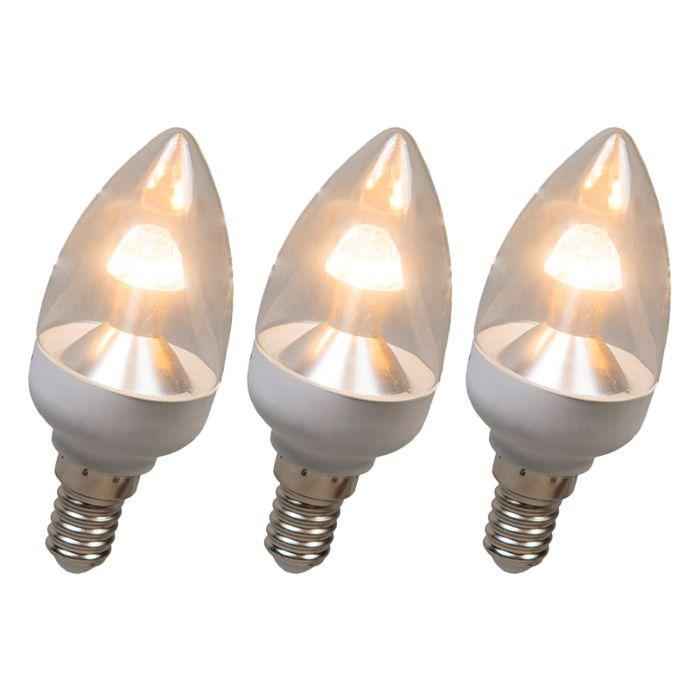Set-of-3-E14-Candle-LED-4W-250LM