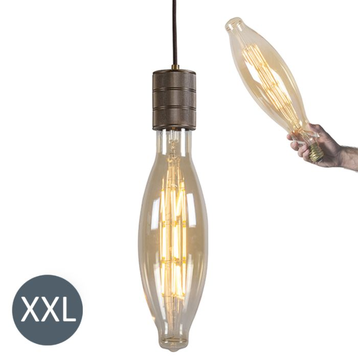 Pendant-Lamp-Elips-Bronze-with-Dimmable-LED-Bulb