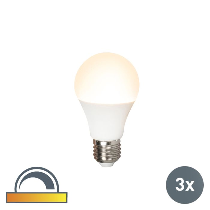 Set-of-3-E27-LED-A60-7W-510LM-2000K---2700K-Dimmable