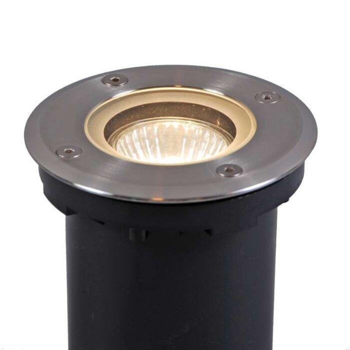 Ground-Spotlight-Luton-Round-including-halogen-bulb