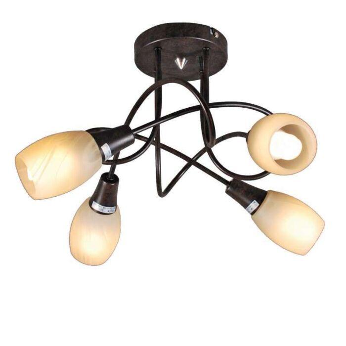 Ceiling-lamp-Andrea-4-rust-coloured