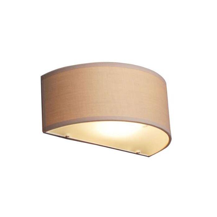 Wall-lamp-Drum-half-round-beige