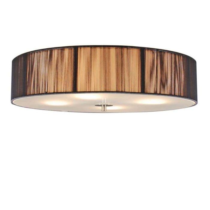 Classic-ceiling-lamp-anthracite-50-cm---Rope
