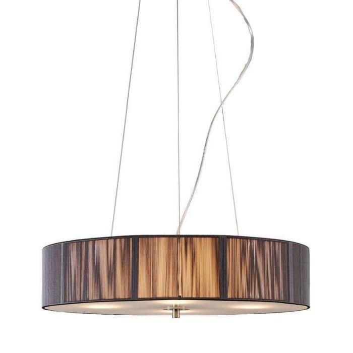 Pendant-Lamp-Drum-Rope-Round-50-Dark-Grey