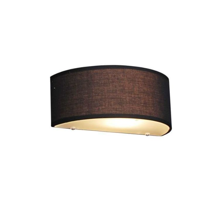 Country-Wall-Lamp-Half-Round-Black---Drum