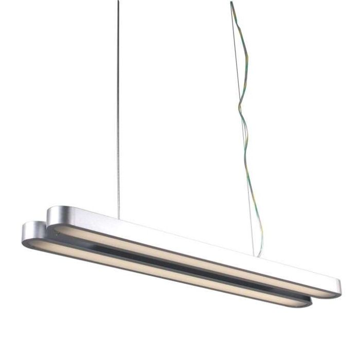 Hanging-lamp-Tube-Double-21W-Silver