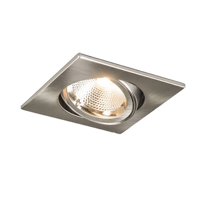 Recessed-Safe-Square-Steel-6W-LED