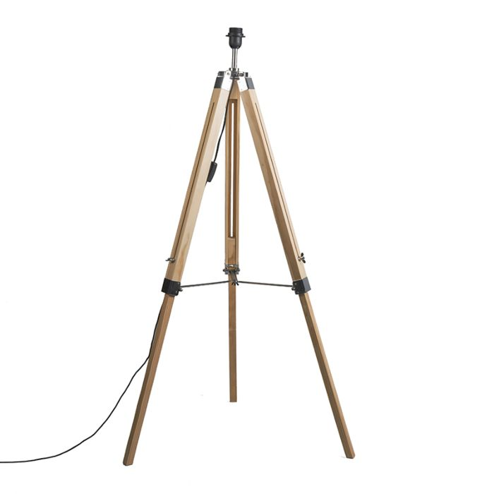Rural-floor-lamp-wood-without-shade---Tripod
