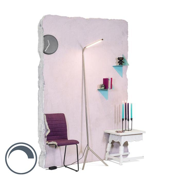 Modern-Floor-Lamp-Steel-incl.-LED---Lazy