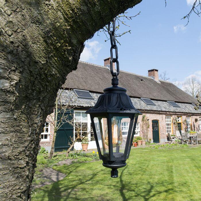 Rural-outdoor-hanging-lamp-black-IP44---Anna