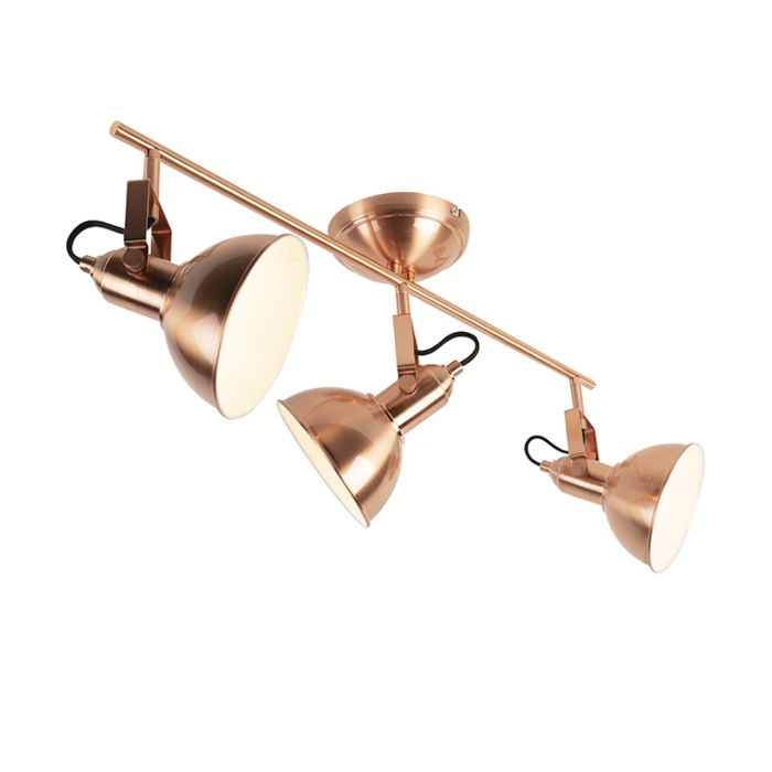 Industrial-Spotlight-3-Copper-with-White-inner-Shade---Tommy