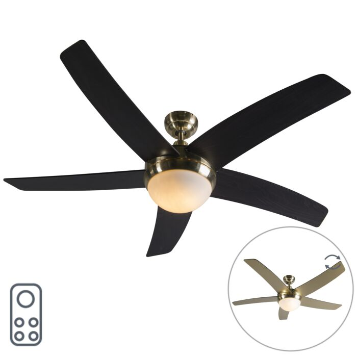 Ceiling-fan-gold-with-remote-control---Cool