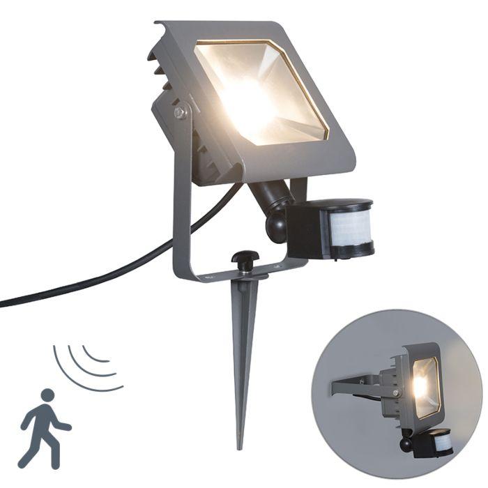 Ground-Flood-Spotlight-Radius-2-PIR-30W-LED-Dark-Grey