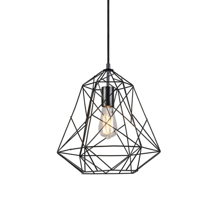 Industrial-hanging-lamp-black---Framework-Basic
