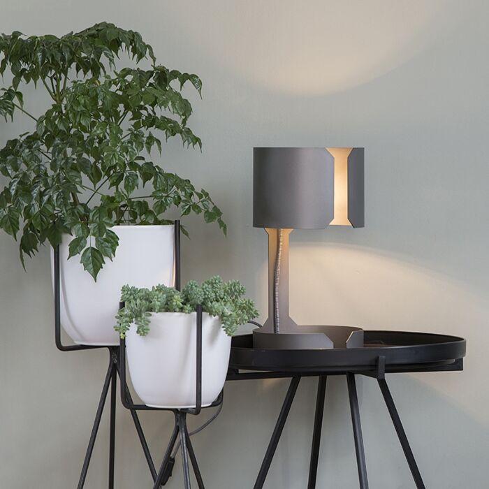 Design-table-lamp-matt-steel---Waltz