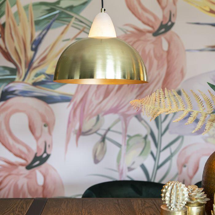 Modern-Pendant-Lamp-Brass-with-Marble---Albasta-B