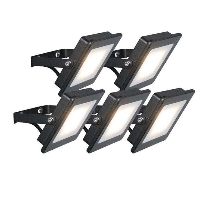 Set-of-5-Flood-Light-Radius-1-LED-20W-Black