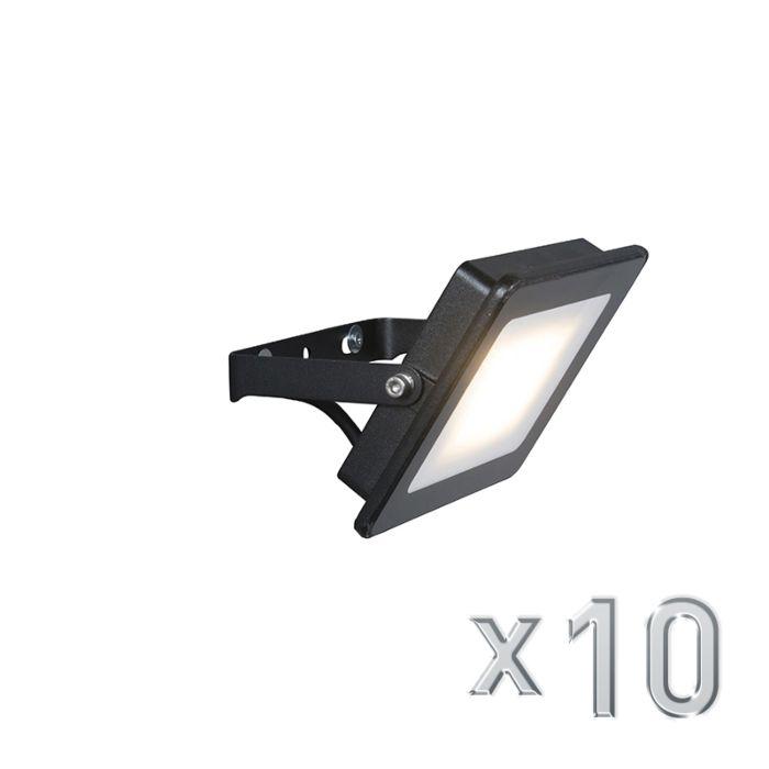 Set-of-10-Flood-Light-Radius-1-LED-20W-Black