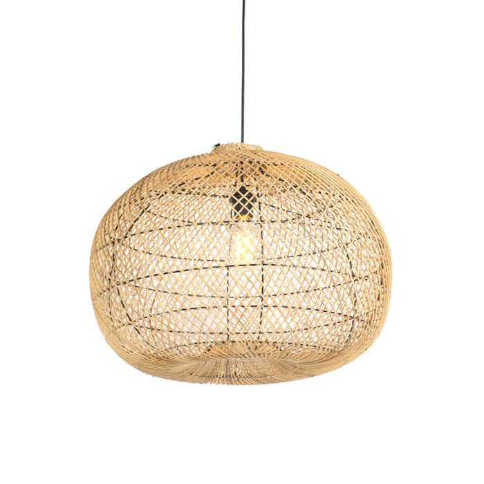 Country-Round-Pendant-Lamp-60cm-Rattan---Snake