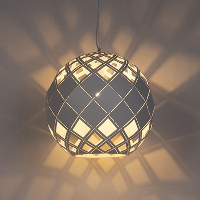 Art-Deco-Pendant-Lamp-White---Tourmaline