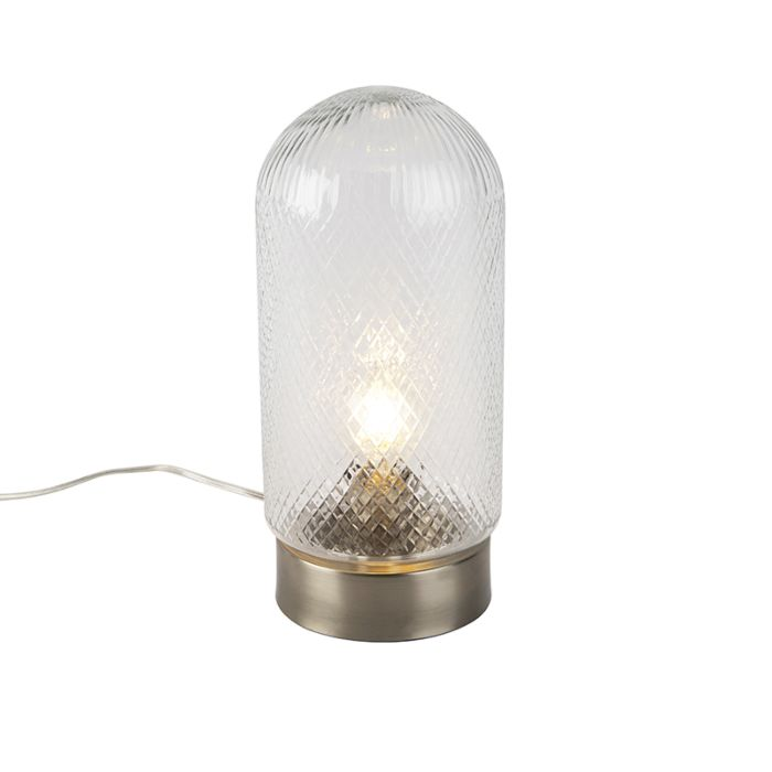 Vintage-Table-Lamp-Medium-Embossed-Glass-with-Steel---Bardo