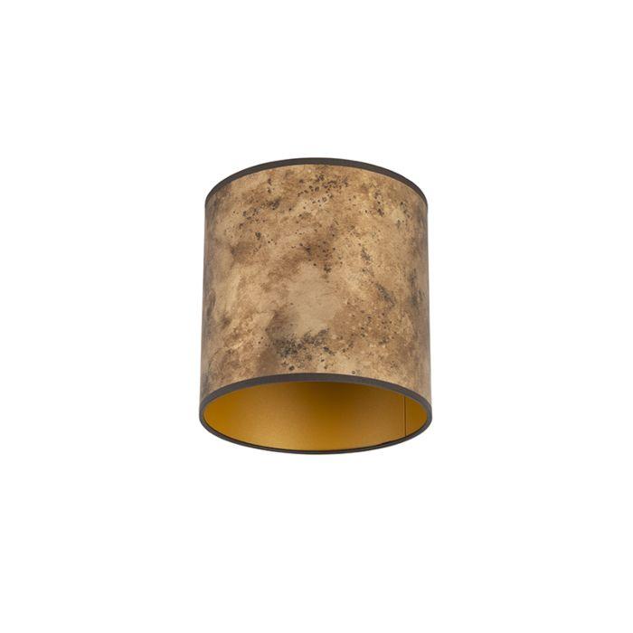 Lampshade-bronze-20/20/20-with-golden-interior