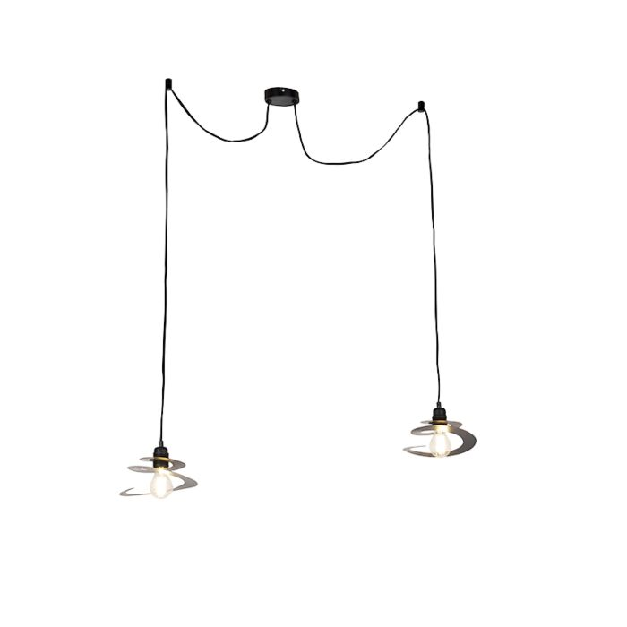 Design-hanging-lamp-2-lights-with-spiral-shade-20-cm---Scroll