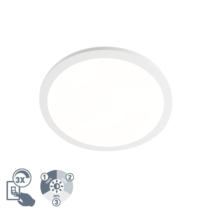 Ceiling-lamp-white-40-cm-incl.-LED-IP44---Camilla