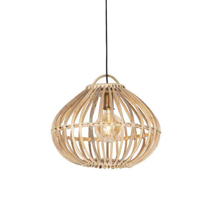 Country-Pendant-Lamp-Natural-Bamboo---Cane-Drop