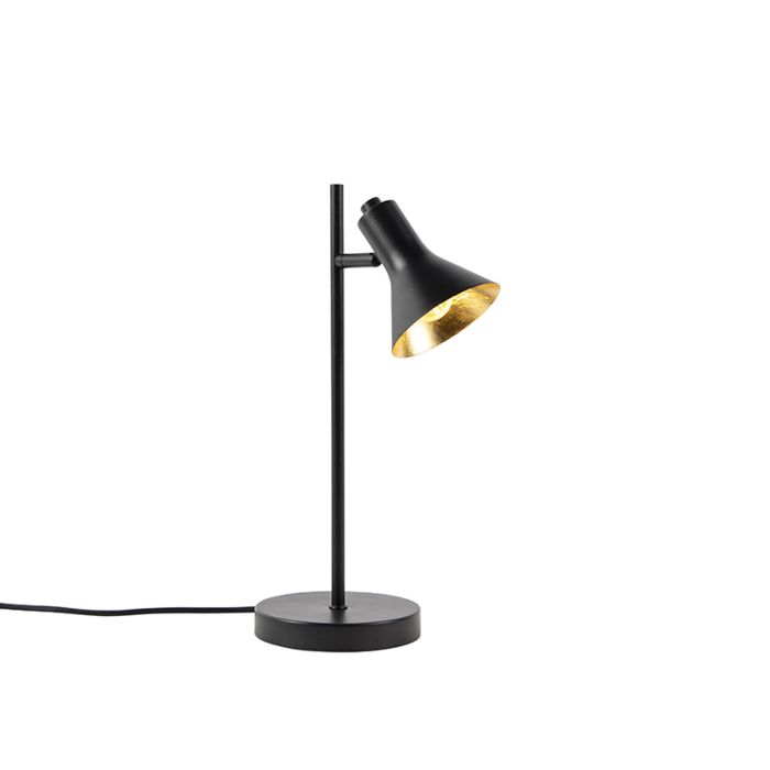 Modern-table-lamp-black-with-gold-1-light---Magno