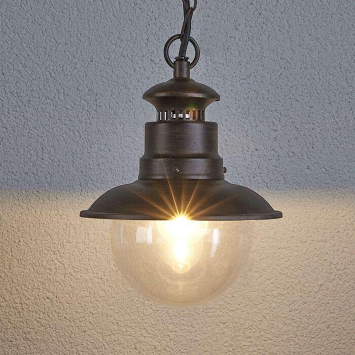 Industrial-round-hanging-lamp-rust-brown---Eddie