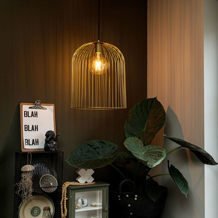 Design-hanging-lamp-gold---Wire-Knock