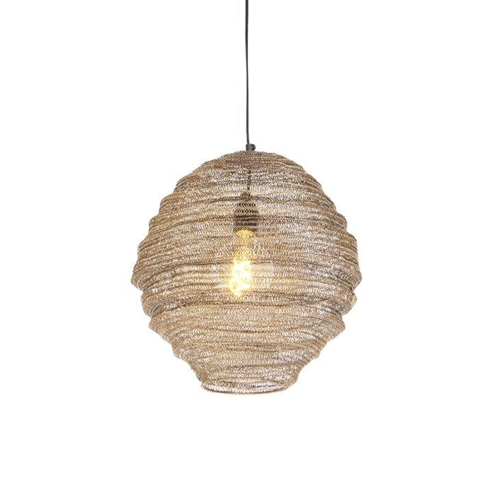 Oriental-hanging-lamp-brass-35-cm---Nidum-Mena
